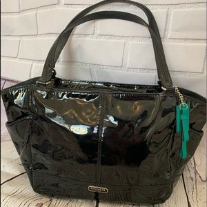 COACH Park Patent Leather Carrie Tote